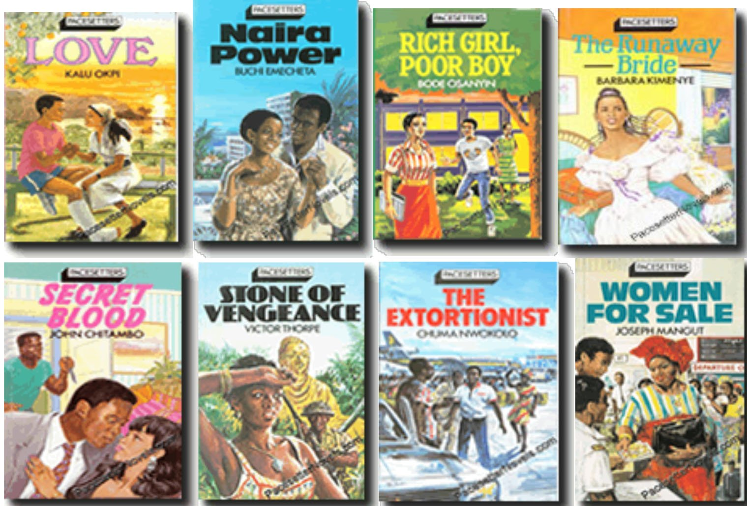 acesetter series by Macmillan, African classic writers