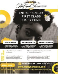 Meflyn Anwana Entrepreneur First Class Story Prize