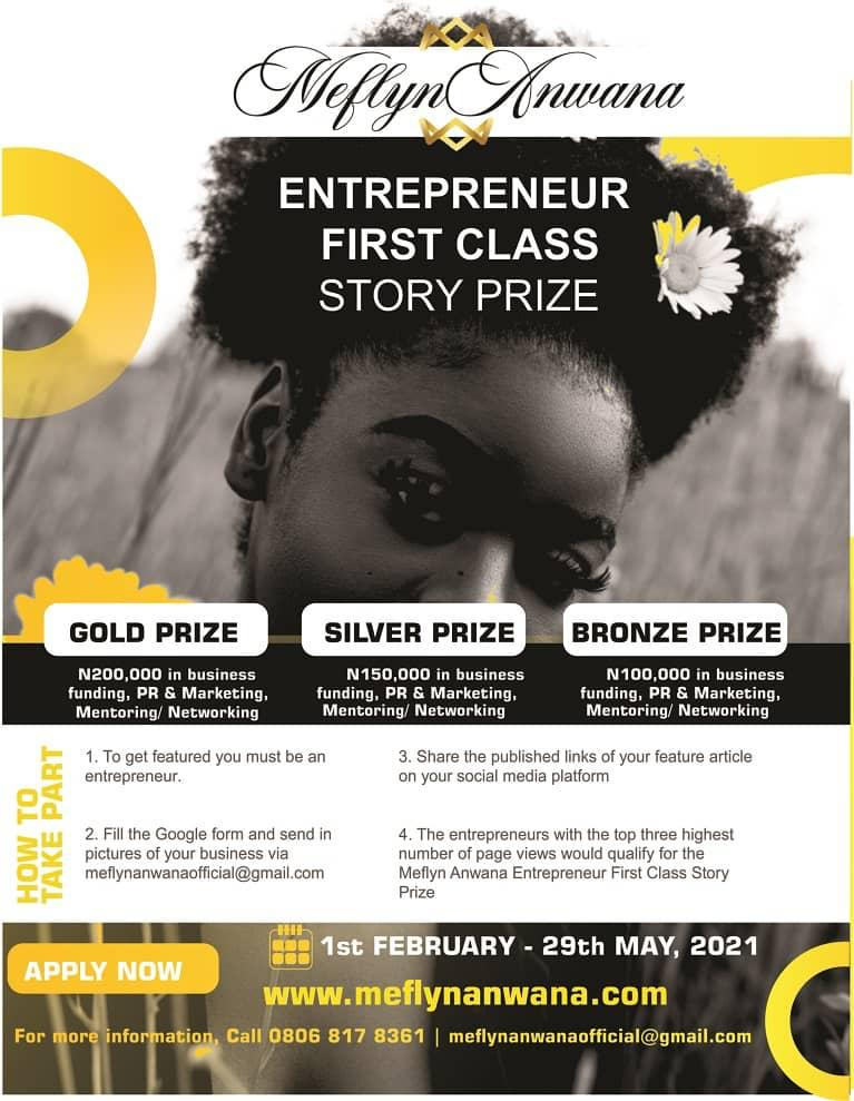 Meflyn Anwana Entrepreneur First Class Story Prize